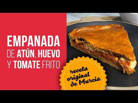 Empanada de Atún, Huevo y Tomate Frito - Receta original de Murcia
