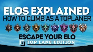 How to *ACTUALLY* Climb as a Top Laner - ELOs Explained League of Legends