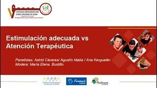 Panel: Estimulación adecuada vs atención terapéutica