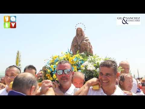 La Romería Marítima de la Virgen de La Palma reúne a miles de algecireños en el Rinconcillo