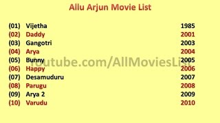 Allu Arjun Movies List