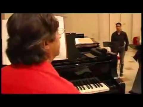Riccardo Muti and Ildebrando D'Arcangelo  rehearsal for Ravenna Festival 2005