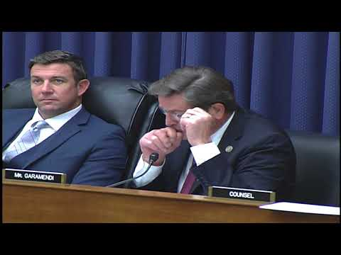 Rep. Garamendi questions the panel at hearing on U.S. Flag Maritime Industry