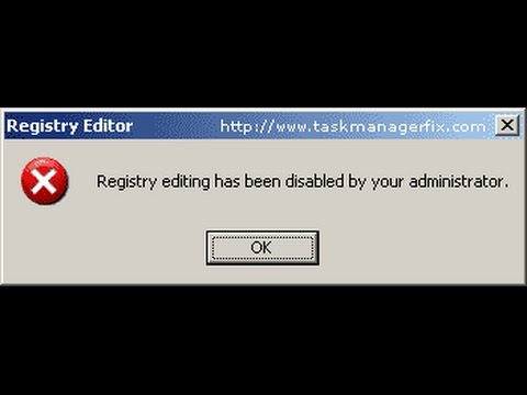 [solved]-Registry Editing has been Disabled by your Administrator Windows 7/8- 2016 way