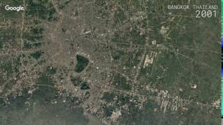 Google earth timelapse: bangkok, thailand