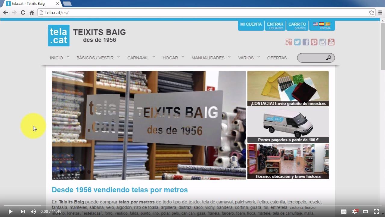 Ayuda - Cómo comprar - Teixits Baig