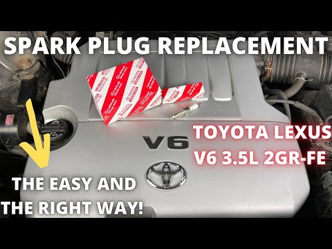 How to change spark plugs on V6 Toyota and Lexus 2GR-FE 3.5L engine