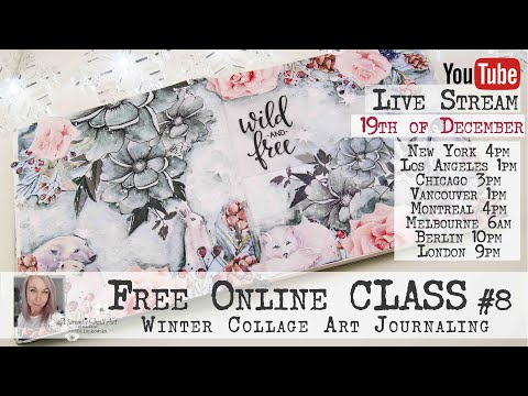 Free Online Class From Maremi - Winter Art Journaling #8
