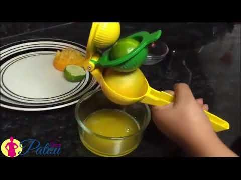 Presse-citron à double bol en aluminium