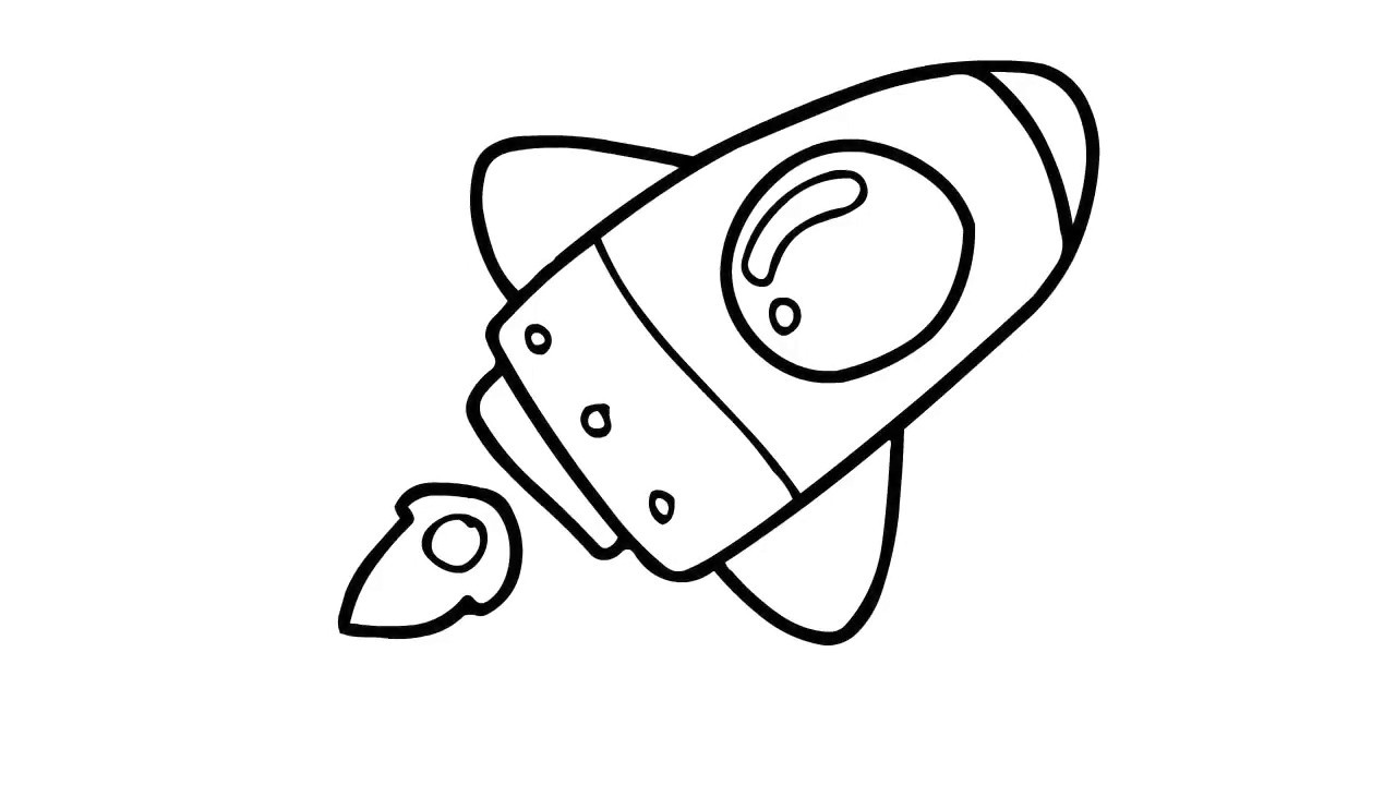 How To Draw A Cartoon Rocket Ship Step By Step