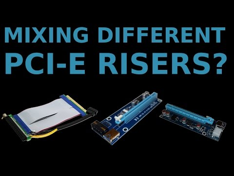 Can You Mix Different PCI-E Risers on your GPU Mining Rig?