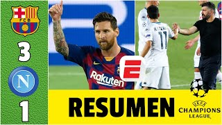 BARCELONA 3-1 NAPOLI La magia de Messi acaba con el sueño del Chucky Lozano y el Napoli | Exclusivos