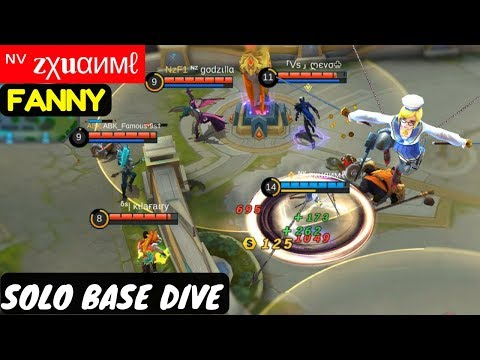 Solo Base Dive [Zxuan Fanny] | ᶰᵛ Zχuαимℓ Fanny Gameplay And Build Mobile Legends
