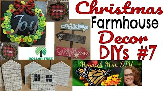 MORE CHRISTMAS FARMHOUSE DOLLAR TREE DECOR DIYS #ilovechristmascrafting