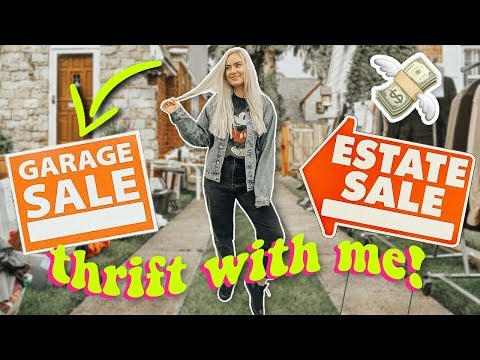Thrift With Me! I went to 3 Garage Sales and 3 Estate Sales in 1 day!