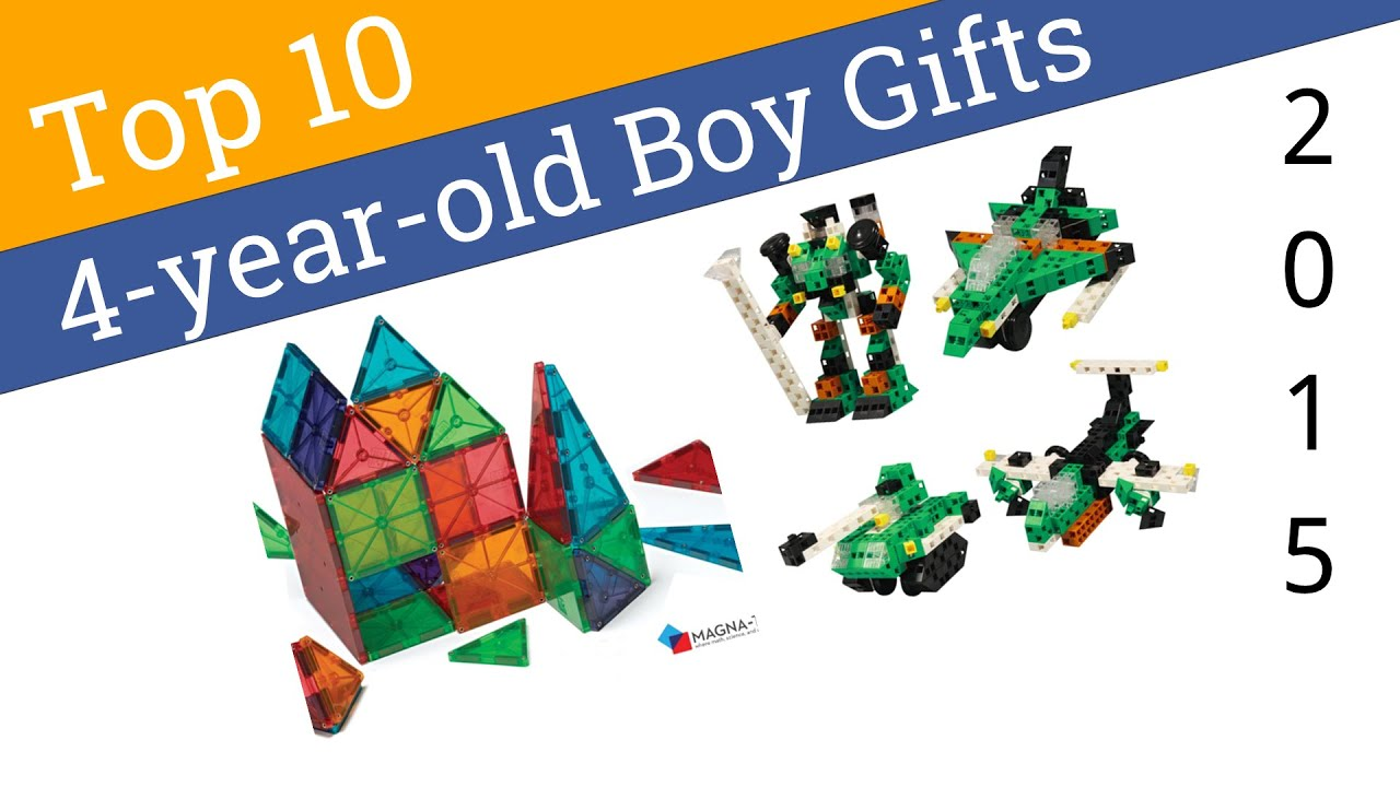 10 Best Gifts For 4 Year Old Boys 2015