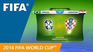 Brazil v. Croatia - Teams Announcement