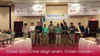 Prep students give Irish blessing at St. Patrick's Day breakfast thumbnail