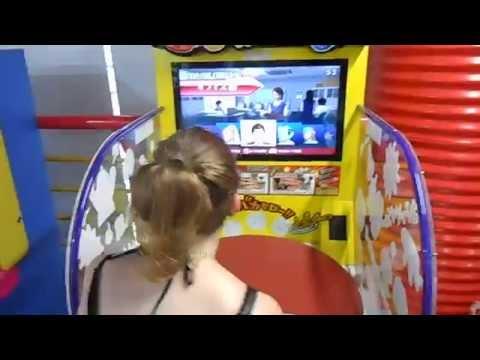 The Japanese Table-Flipping Arcade Game at the Minato Mirai Arcade in Yokohama