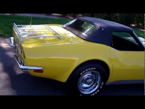 SOLD - 1972 Yellow Corvette LT1 for sale by Corvette Mike