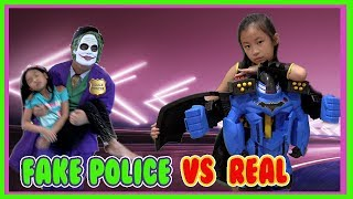 Pretend Play POLICE with Ryan's Toy Review inspired- I MAILED MYSELF to Ryan ToysReview and it WORK7