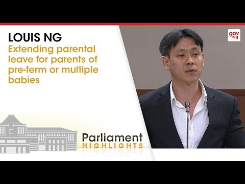 MP Louis Ng on extending parental leave for parents of pre-term or multiple babies