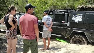 Patriot campers got bogged at Inskip point