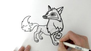 How to Draw a Cartoon Arctic Wolf From Animal Jam - zooshii Style