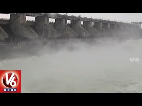Medak District Singur Project 9 Gates Lifted With Heavy Inflow | V6 News