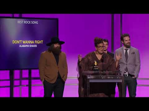 Alabama Shakes won Best Rock Song & Best Alternative Music Album at the 58th Grammys, 2016