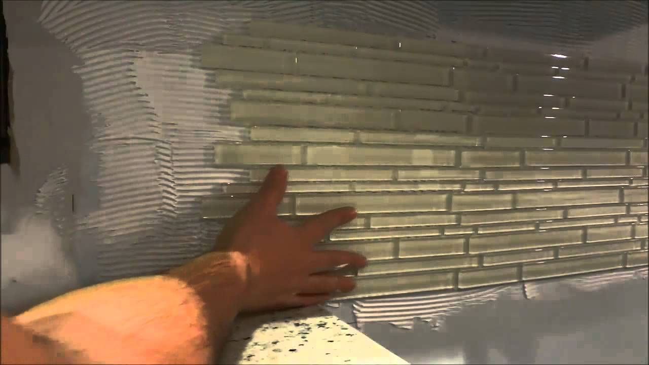 How To Install A Backsplash With A Mesh Backing (DIY ...