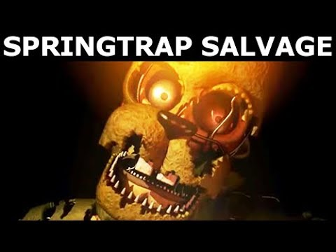 Fnaf 6 Springtrap Animatronic Salvage Freddy Fazbear S