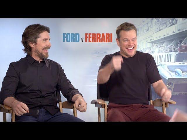 FORD v FERRARI interviews - Matt Damon, Christian Bale, James Mangold, Jon Bernthal, Tracy Letts