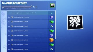 THE DEFIS OF NOEL 14 DAY OF FREE CADEAUX on FORTNITE BATTLE ROYALE!