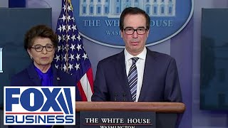 Mnuchin hits back at reporters in fiery exchange over stimulus checks