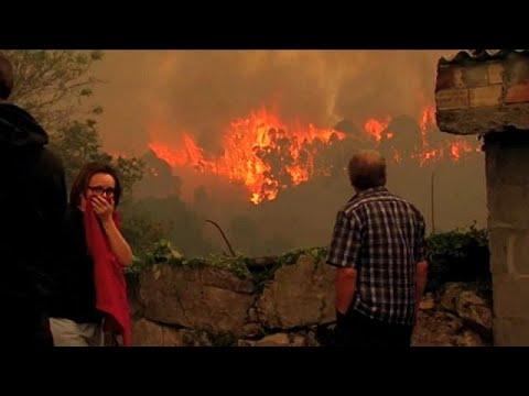 Arde Galicia por incendios criminales: tres muertos y miles de hectáreas quemadas