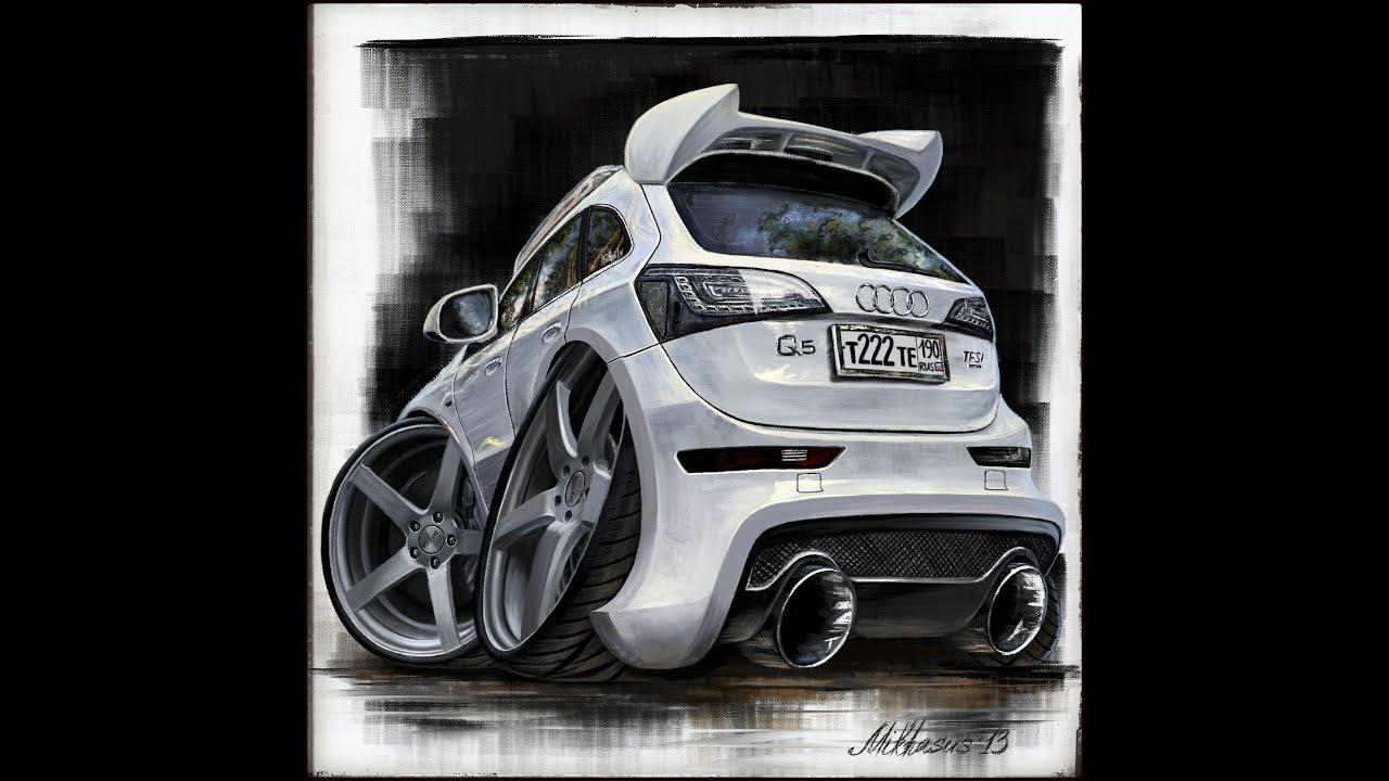 Audi Q5 Cartoon Cars Series iPad painting in Procreate ...