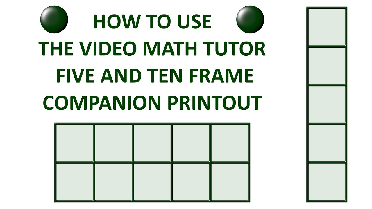 How to Use My Five and Ten Frame Companion Printout - YouTube