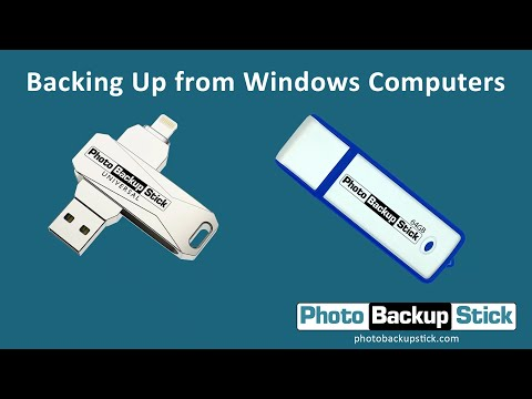 <strong>Backing Up from Windows Computers</strong><br>How to back up photos and videos from Windows computers, laptops, and tablets using your Photo Backup Stick.