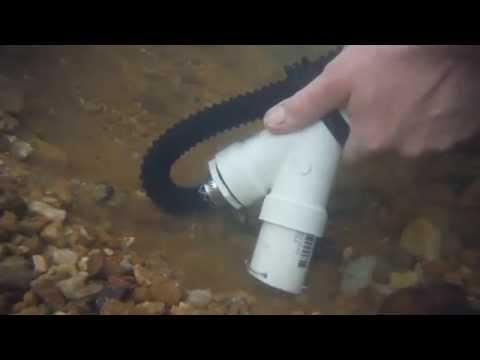 "Gold Prospecting w/ DIY Backpack Mini Dredge - 1.5"" pvc nozzle, 1000 GPH Bilge Pump - BEDROCK SNIPER"