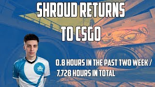 Shroud First Game Oḟ CSGO In Over A Month