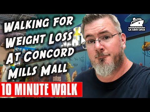 Walking For Weight Loss At Concord Mills Mall | 10 Minute Walk