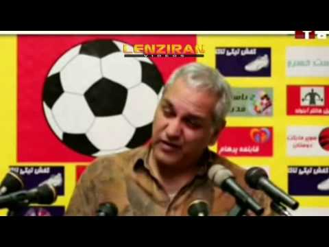 Mehran Modiri play role of press conference coach of Iranian football team