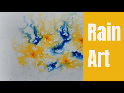 Abstract Watercolor Painting / Rain water is my brush / Wet on Wet