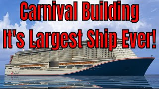 Carnival Cruise Lines Building It's Largest Ship For 2020 LNG Powered Ship