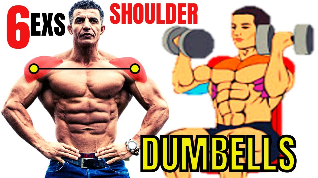6 BEST SHOULDERS EXERCICES WITH DUMBELLS ONLY AT HOME