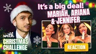 Download lagu Vocal Coach YAZIK reaction to Mariah Carey - Oh Santa! ft  Ariana Grande, Jennifer Hudson