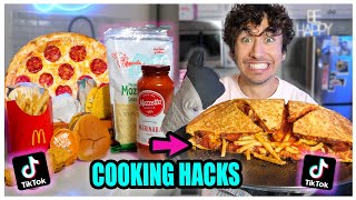 We TASTED Viral TikTok Cooking Life Hacks... (CHICKEN-PIZZA-TACO-BURGER??) *Part 9*
