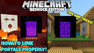 Minecraft Bedrock: How To Link Nether Portals PROPERLY + Tips And Tricks! MCPE Xbox PC