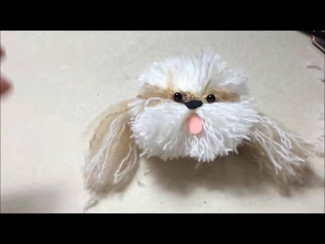 DIY - Shih tzu feito com lã